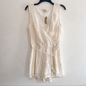 American Eagle Ivory Lace Romper